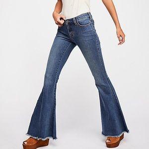 Free People Denim super flare jeans in Dawn NWOT